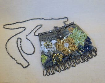 Sequin and Bead Encrusted Evening Bag!
