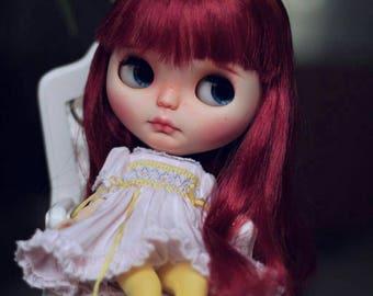 Pre-owned ooak custom blythe doll- Ruby