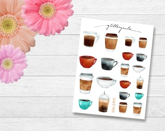 Coffee Lovers Planner Stickers