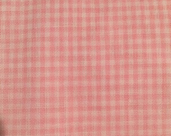 Tiny Pink Check/Gingham Cotton