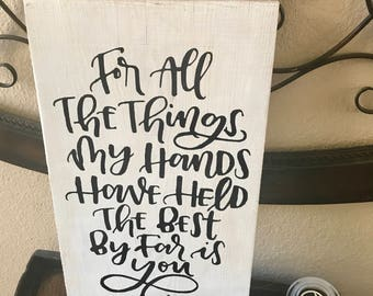For all the things sign