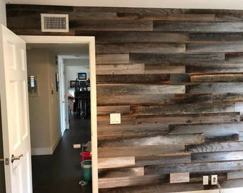 Reclaimed accent walls