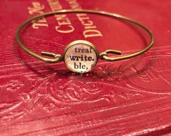 Write Bangle Bracelet