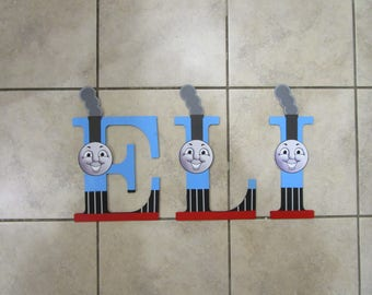 9 Inch Hand Painted Thomas Wall Letters For Kids Kids Room Decor Train Decor