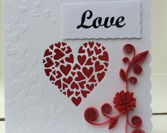 Valentines Day Quilling Cards