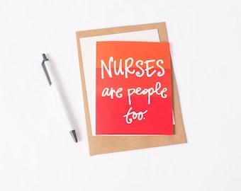 Greeting Card: Nurse People