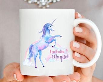 Unicorn Mug, Unicorn Gift, Funny Coffee Mug, Funny Mug, I Flew Here on My Unicorn, Funny Unicorn Gift, Be A Unicorn Mug, Funny quote mug