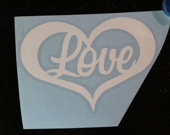 Love Heart Decal
