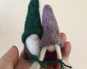 Needle Felted Gnome Viking Couple