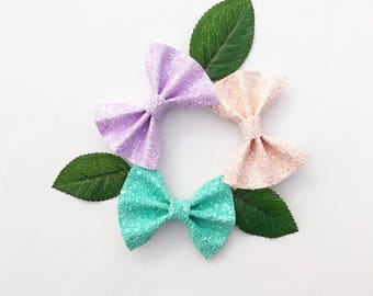 Glitter bow, white bow, headband, kids hair accessory, hair accessories kids rosegold turquoise