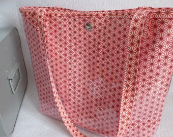original tote bag closure pressure shapes geometric Red