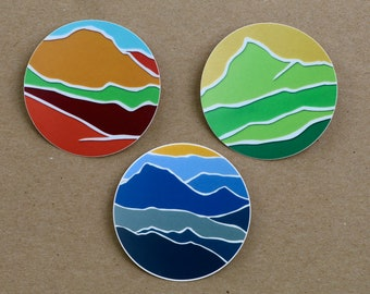 3 Mountain Stickers