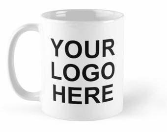 Custom logo or image on an 11oz or 15oz mug.