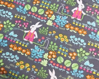Lettuce Bunny's Garden from the Bunny Garden Collection by Michael Miller Fabrics, Bunny, Easter, Garden Fabric