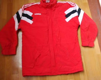 Adidas jacket, vintage hip hop jacket of 90s hip-hop clothing, 1990s gangsta rap old school windbreaker, size M Medium (D6) Made in Bulgaria