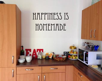 Happiness Is Homemade Vinyl wall decal sticker
