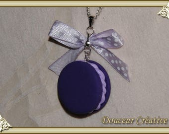Purple macaroon 103011 necklace