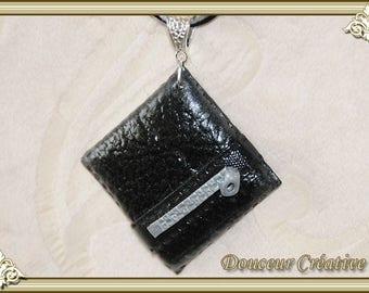 Choker black leather 112004