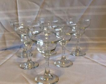 Set Of 6 Vintage Margarita Glasses/ Libby Margarita Glasses
