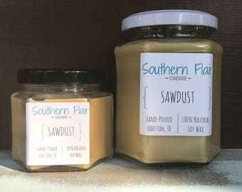 Sawdust - Pure Soy Candle Scented