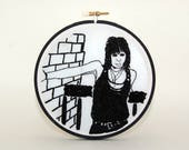 JOAN JETT embroidered portrait wall hanging