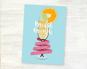 Customizable Bridal Brunch 5x7 Card Printed, Cut And Shipped To You!