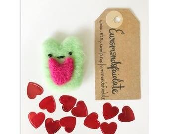 Valentine's Day needle felted hamster felt needle felt