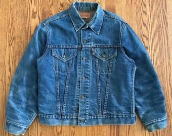 Levi's Men's Big E Type 3 Trucker Jacket Blanket Lined Denim Jean Jacket Vintage Made in USA