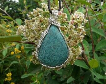 Turquoise wire wrapp pendant