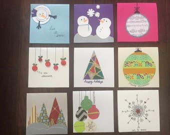 Handmade Christmas and Holiday  greeting cards