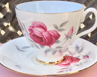 Pretty In Pink-Royal Albert CharmaineTeacup and Saucer
