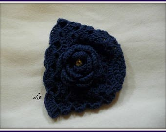 BLUE 12 MONTHS CROCHET BABY HAT