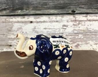 Polish Pottery Elephant