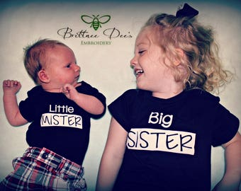 Big Sister, Little Mister Sibling Shirts (Set)