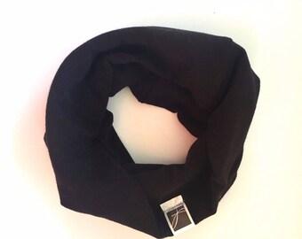 Baby scarf; infinite; child gift; Unisex. Black
