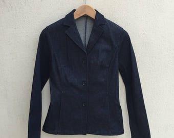 Vintage Elle Planete Denim Blazer Jacket