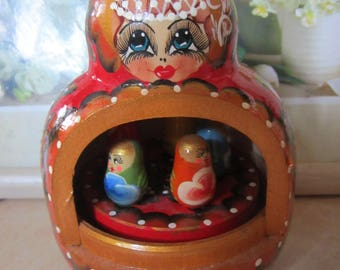 Russian Music BOX Matryoshka Russian Dools Hand painted - famous song