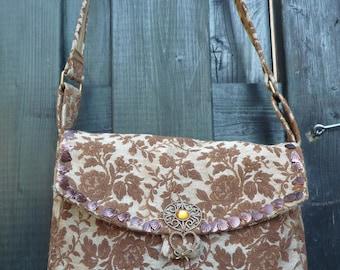 Tapestry shoulder bag purse