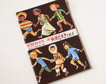 french Vintage Children's Book: young magazine. (1958)