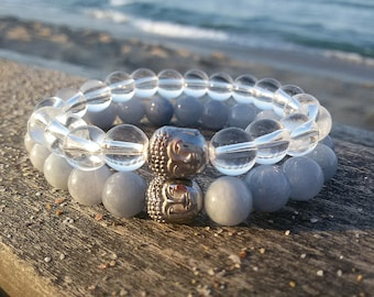 Budha bracelets set Yoga Couple bracelet His and Her bracelet Friendship jewelry Budha beads bracelet boyfriends Presents Matching bracelets