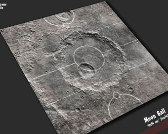Battle mat: Moon Ball - Guild Ball game board, table map scenery for fantasy football boardgame terrain