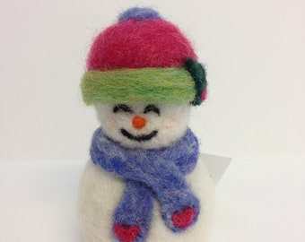 Needle Felted Wool Snowlady