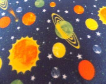 Planets Hand Tied Fleece Blanket