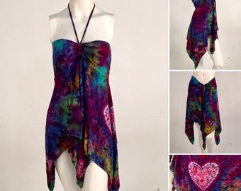 Convertible Top/Skirt - Heart On Rainbow - Size Large