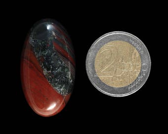 Natural Bloodstone cabochon stone - (EA491)