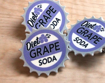 Diet Grape Soda Pin
