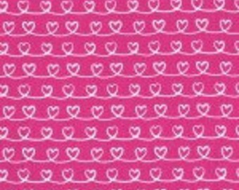 Michael MIller Forever Love Cotton Quilting  Fabric fushia pink