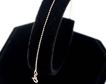 14K Solid Gold Chain Anklet Beach Anklet Gold Anklet Dainty Anklet Layering Anklet Minimalist Anklet Beach Jewelry