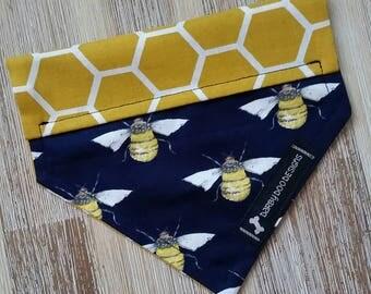 Humble Bumble Bee Dog Bandana