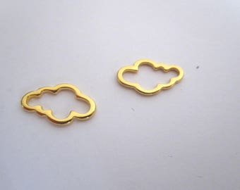 2 connectors or gold plated charm
